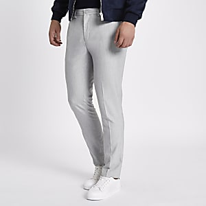 Light grey skinny fit smart pants