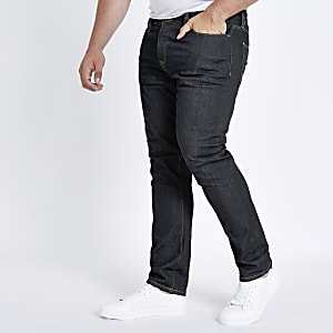 Big & Tall – Seth – Dunkelblaue Slim Fit Jeans