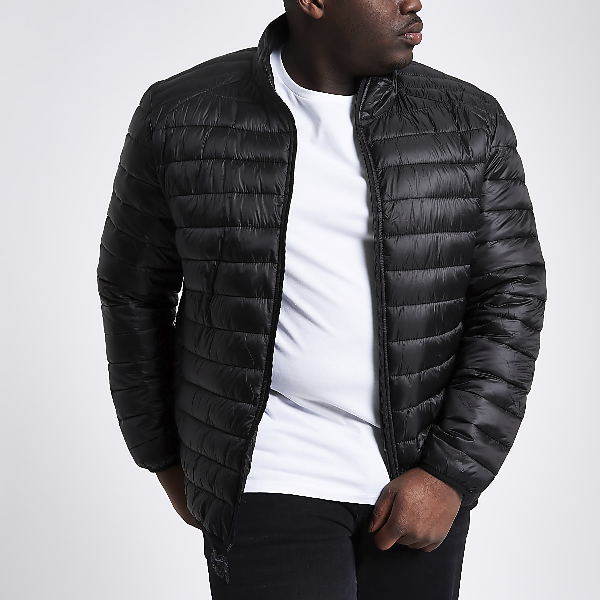 Big and Tall black puffer jacket