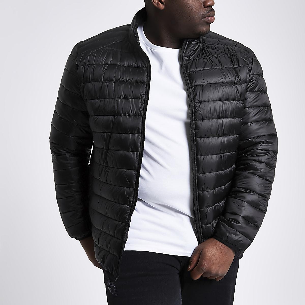 847b7138e Big and Tall black puffer jacket