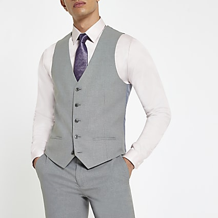 Light grey smart waistcoat