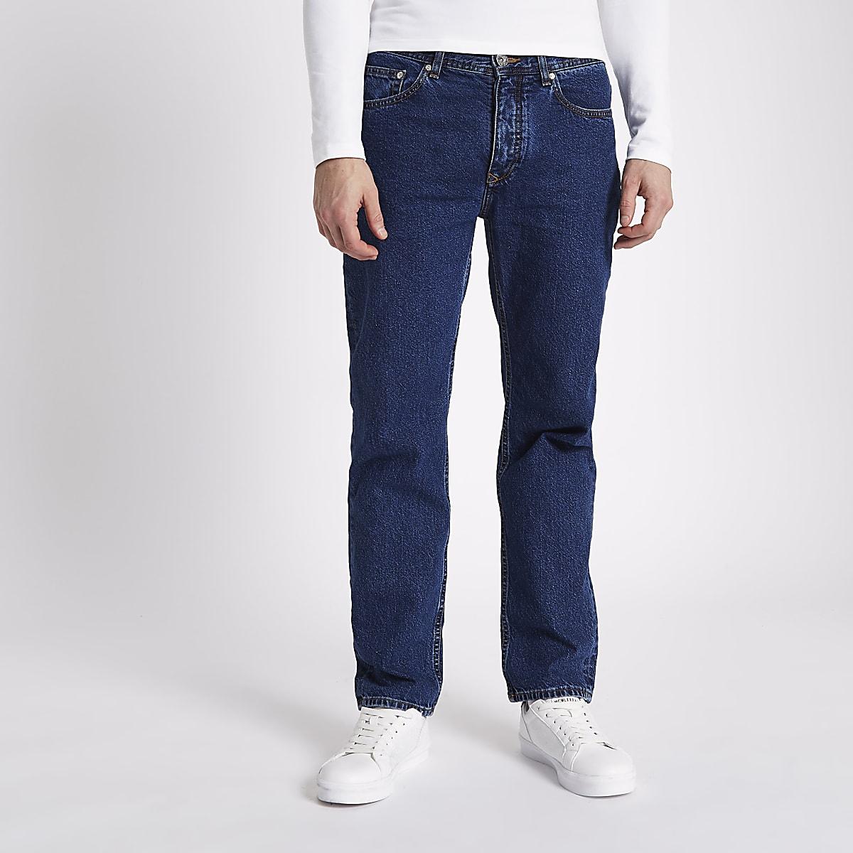 Dark blue Dean standard jeans