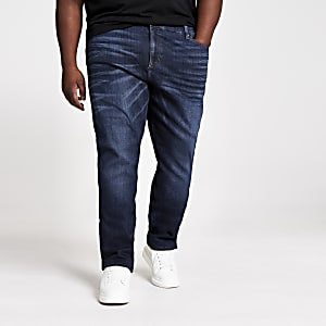 Big and Tall dark blue skinn jeans