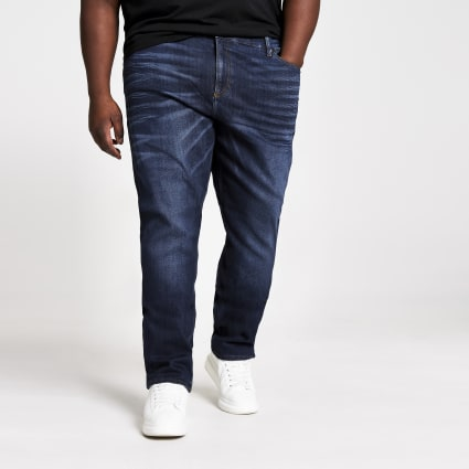 Big and Tall dark blue Sid skinny jeans