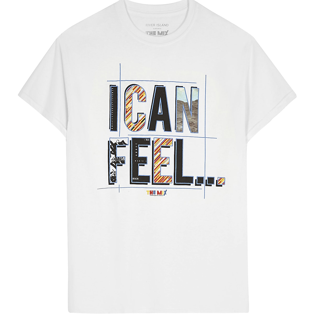 White 'I can feel' The Mix charity T-shirt