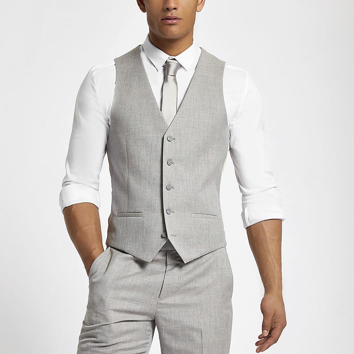Light grey suit vest