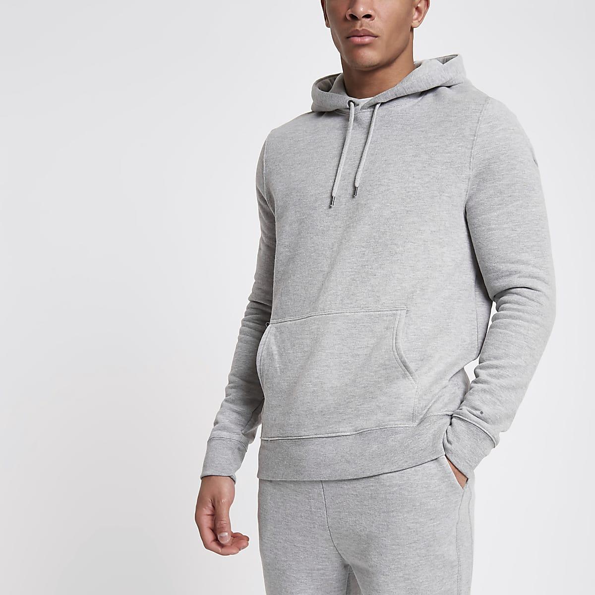 Light grey long sleeve hoodie