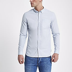 Light blue slim fit long sleeve shirt
