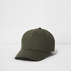 a9d6bb2d3b1 Grey fisherman beanie hat · Green khaki wasp embroidered baseball cap