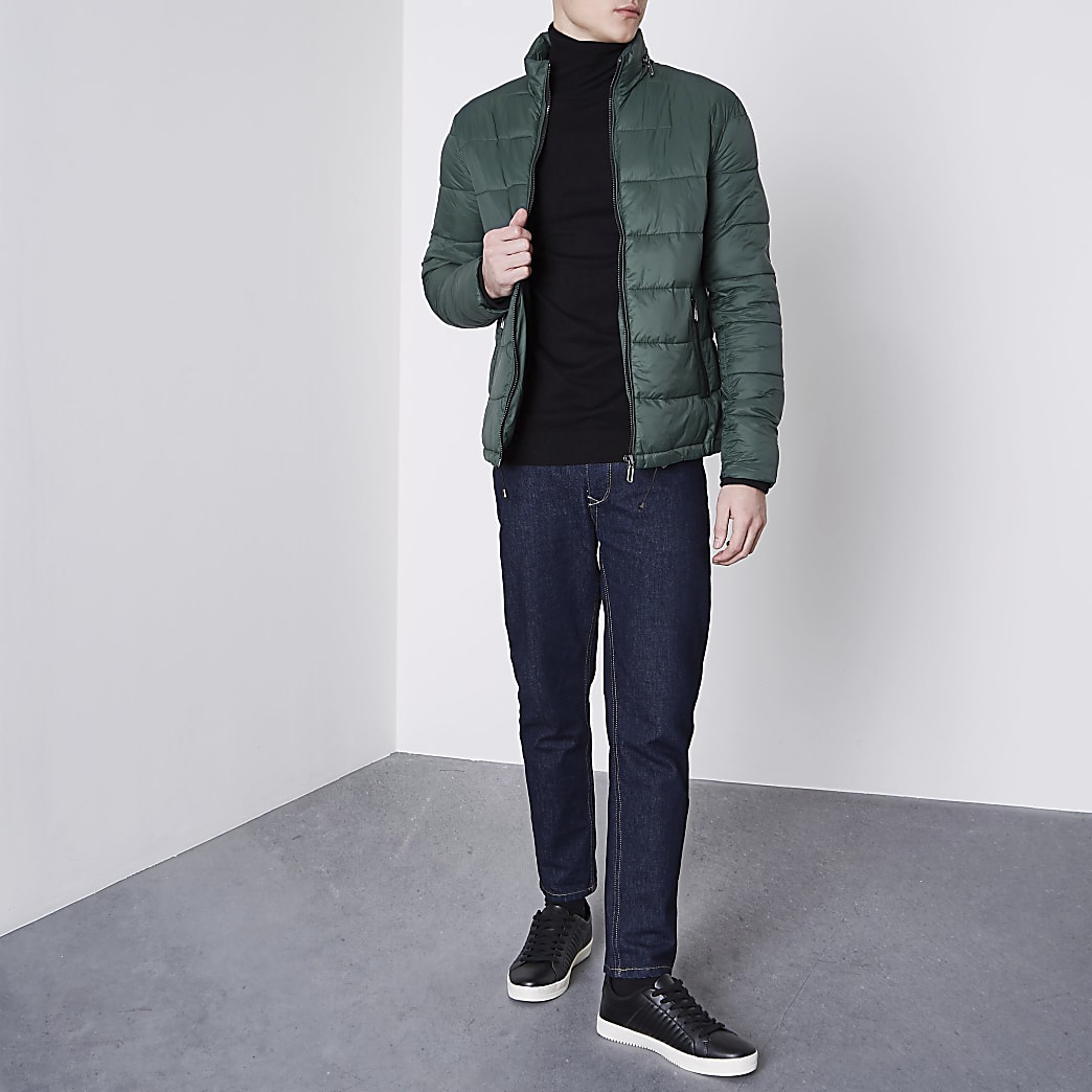 Only & Sons green padded jacket