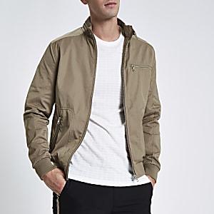 Stone racer neck jacket
