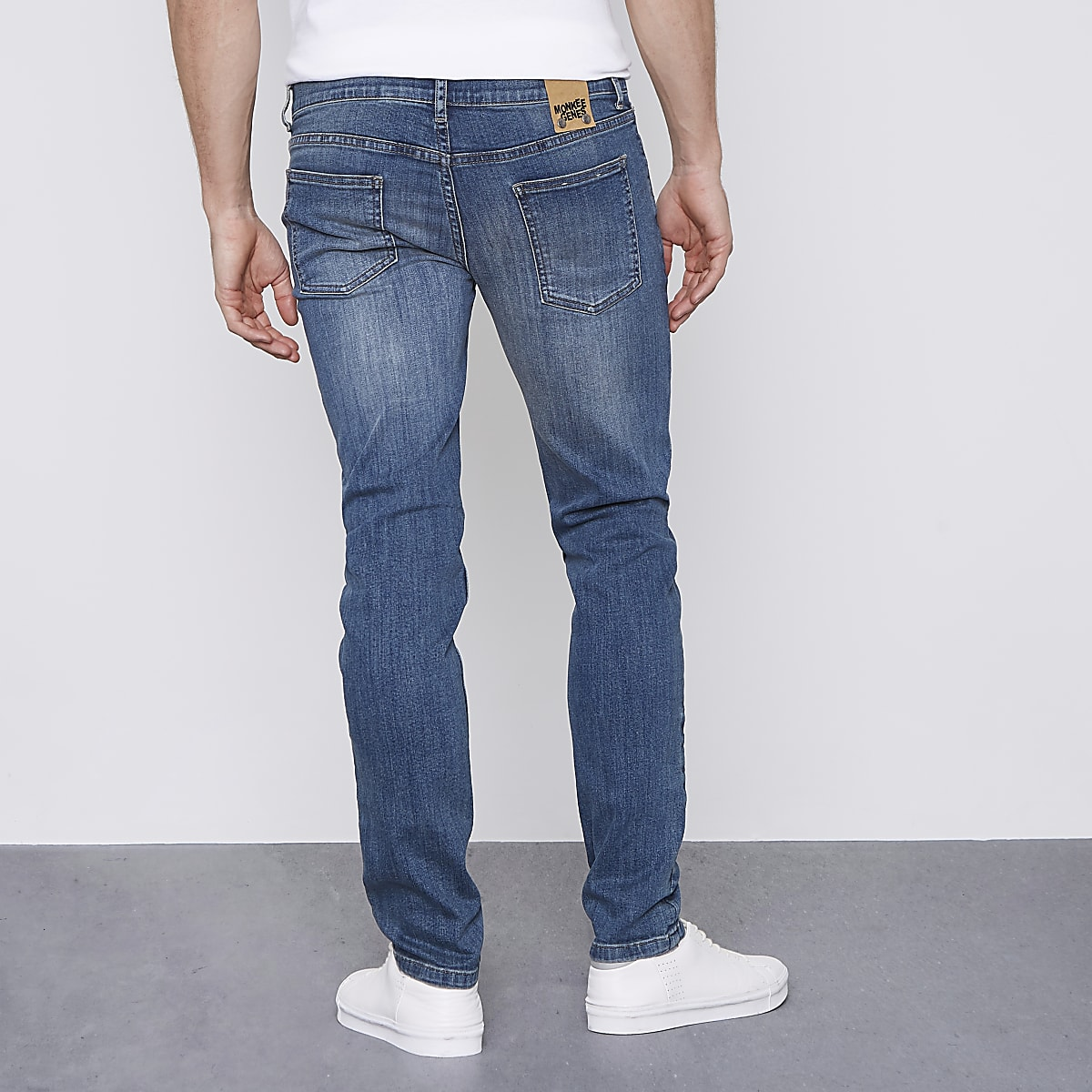 2a6bf3d2be92 Monkee Genes blue classic skinny jeans - Skinny Jeans - Jeans - men