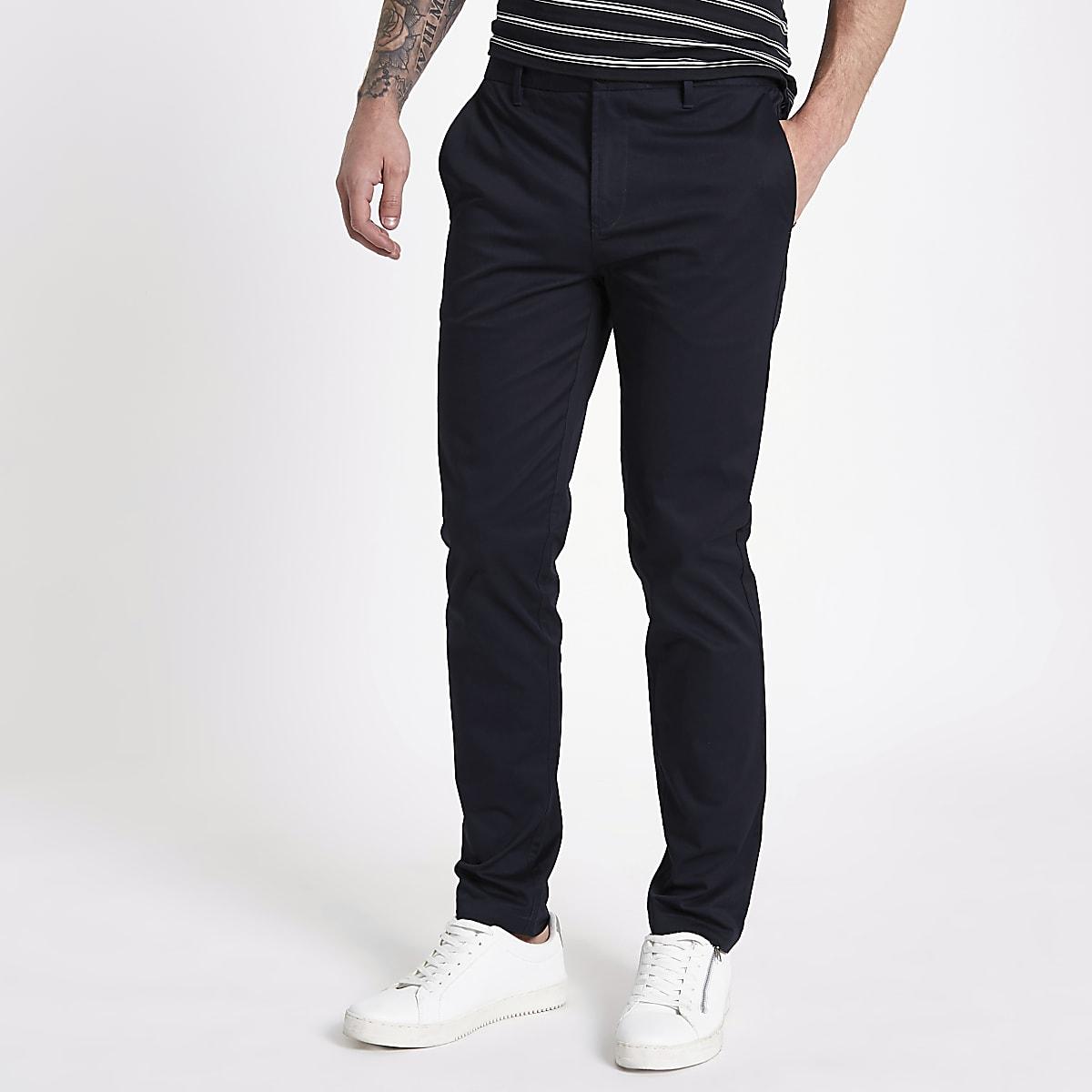 Navy slim fit chino pants