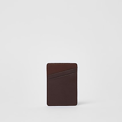 Tan leather card holder