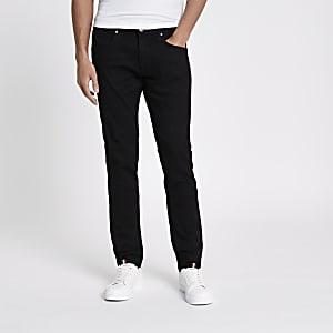 Lee - Luke - Zwarte smaltoelopende slim-fit jeans