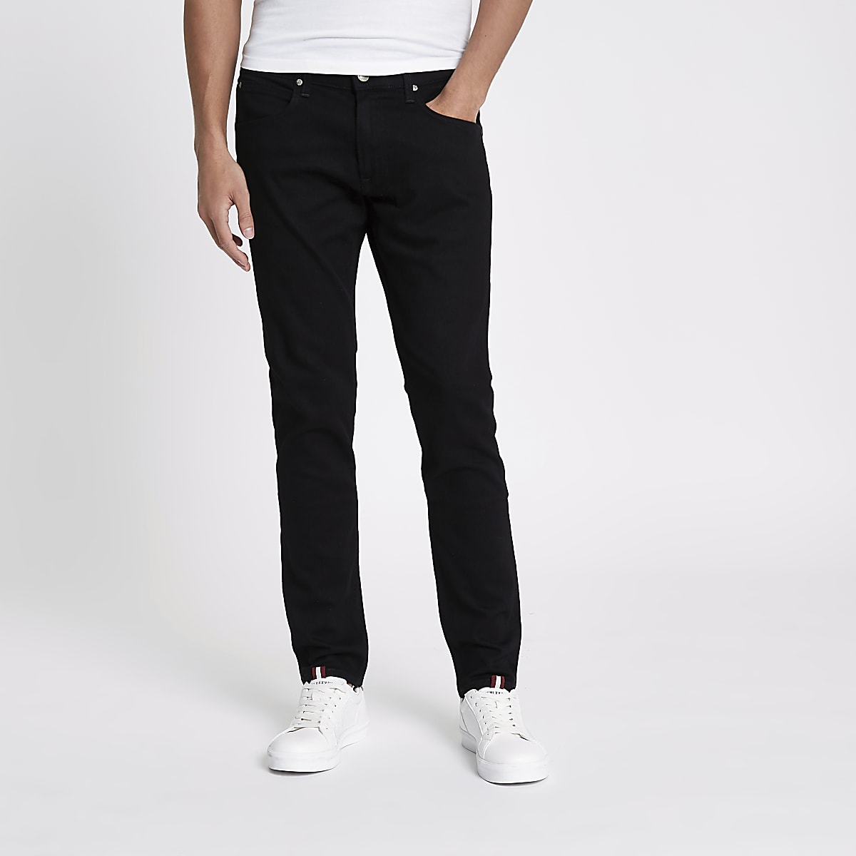 1b35cdf548 Lee black slim fit tapered Luke jeans - Tapered Jeans - Jeans - men