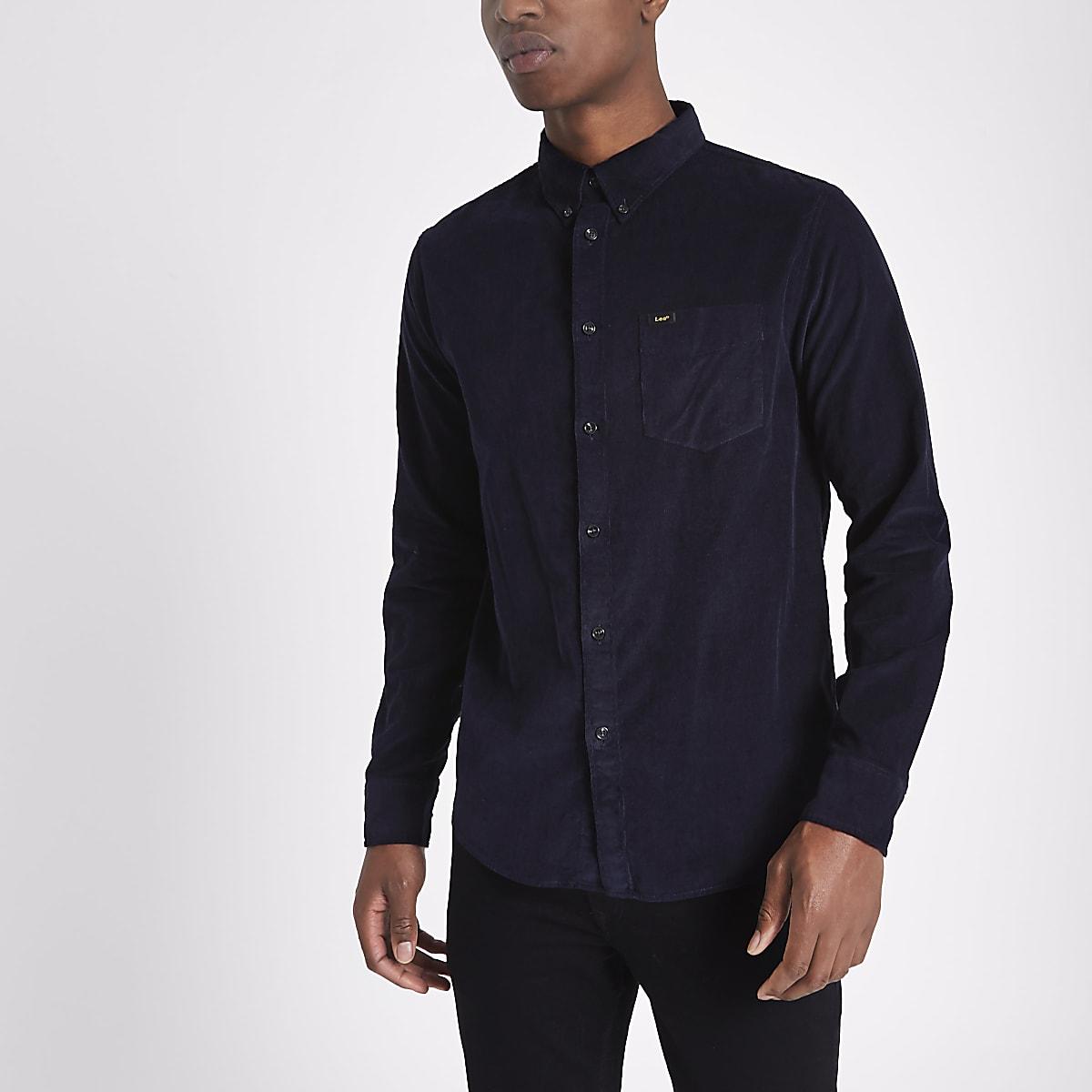 d1efb755aa7404 Lee navy cord button-down Oxford shirt - Long Sleeve Shirts - Shirts - men
