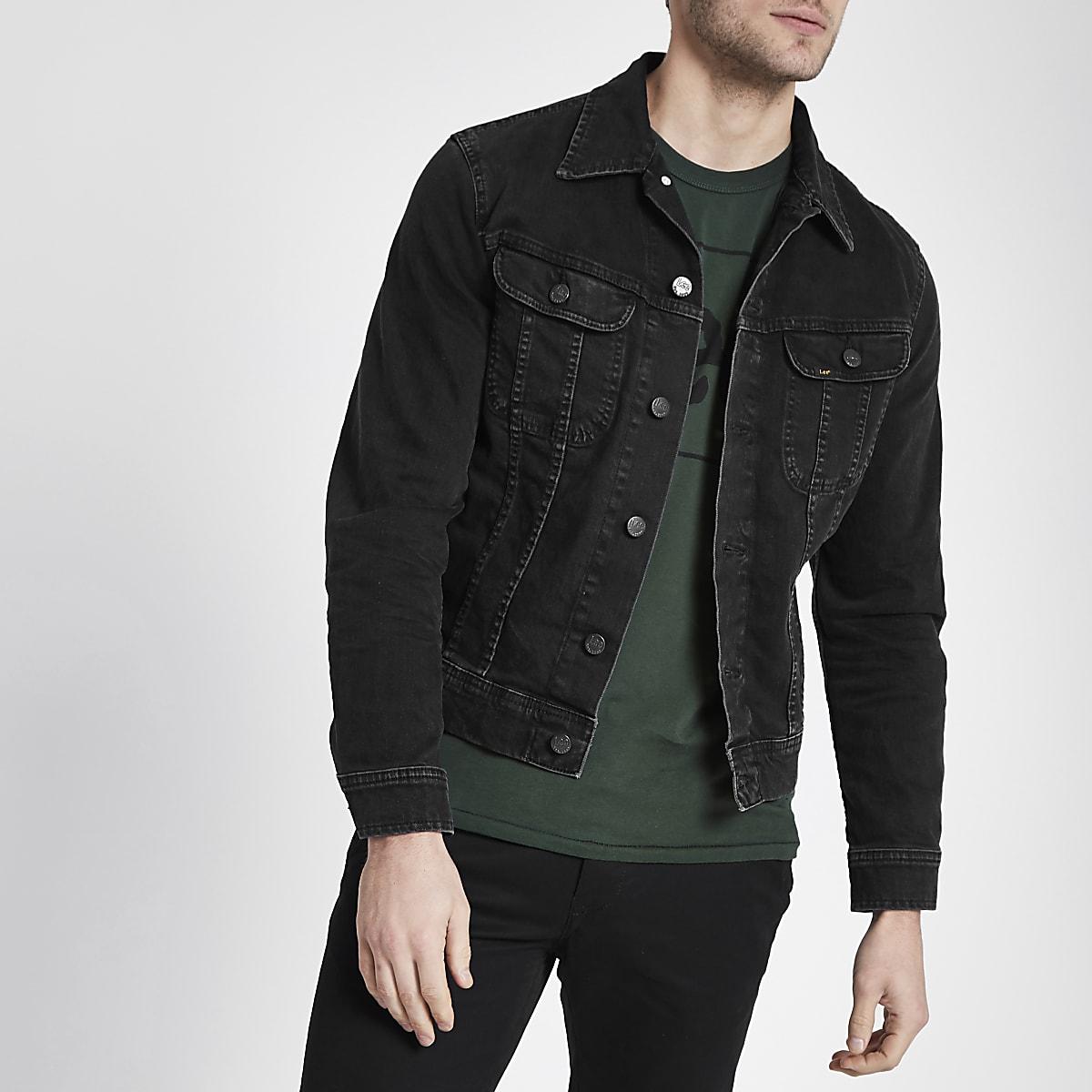 Lee black slim fit denim jacket