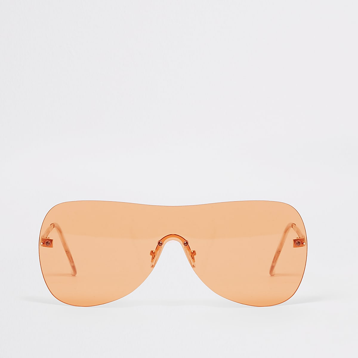 Orange tone visor aviator sunglasses