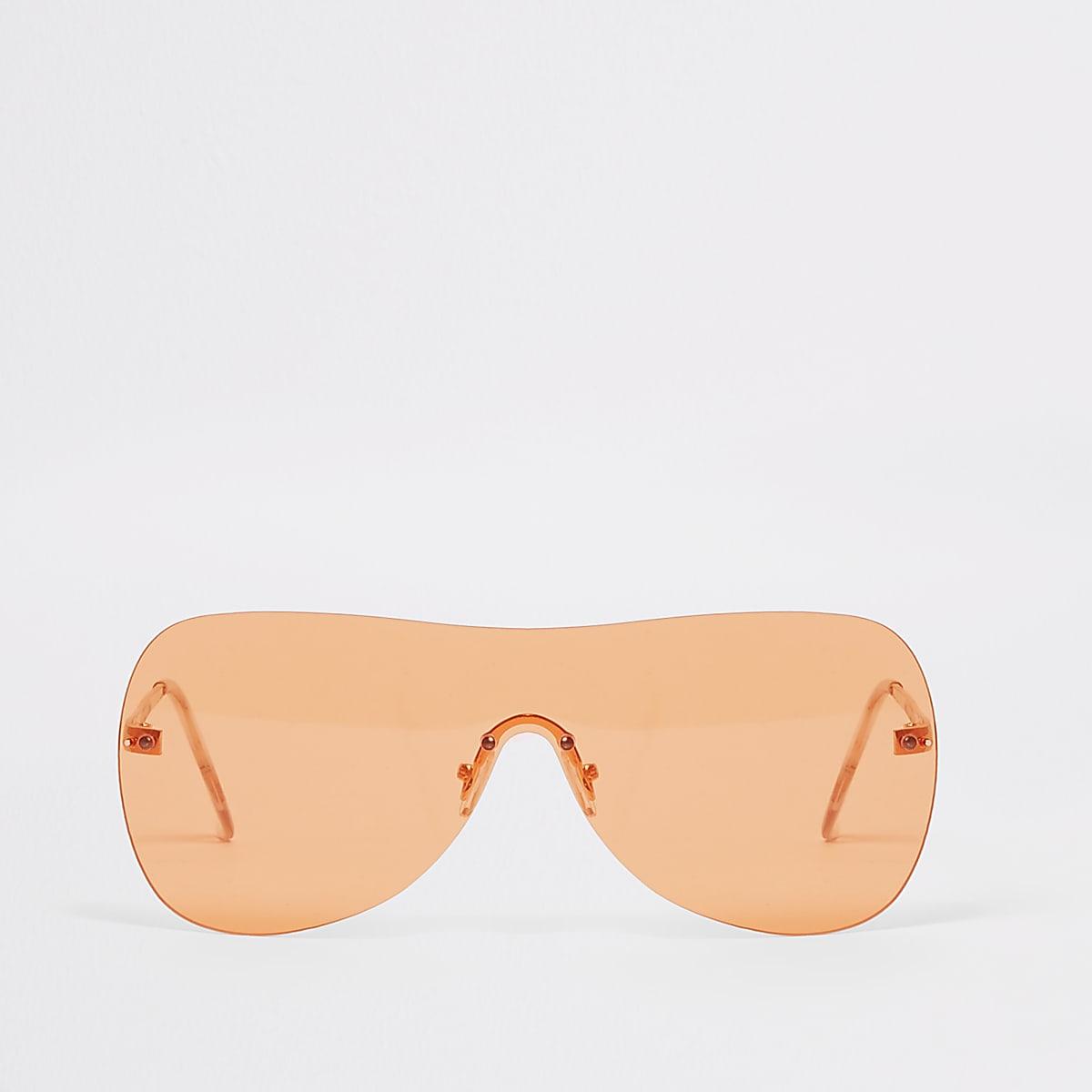 Oranje visor-pilotenzonnebril