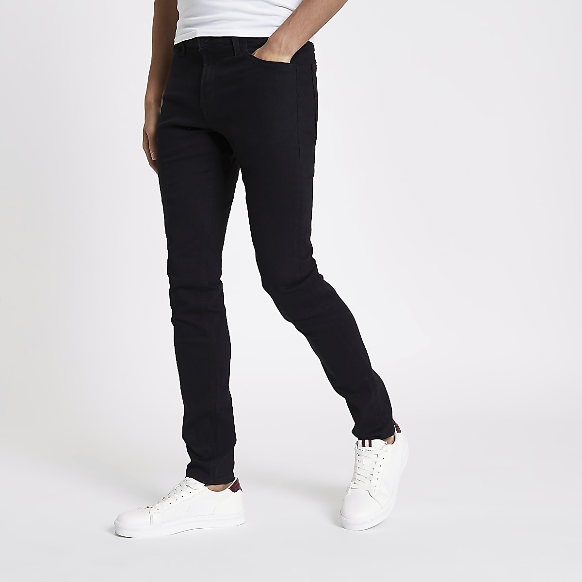 Lee black skinny fit Malone jeans