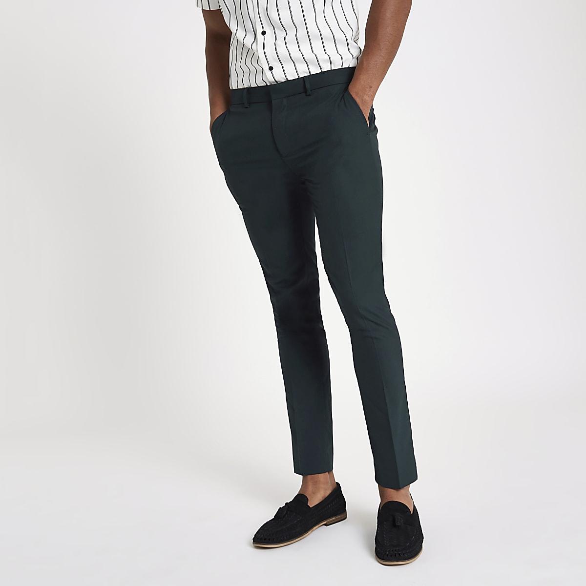 Forest green super skinny smart pants