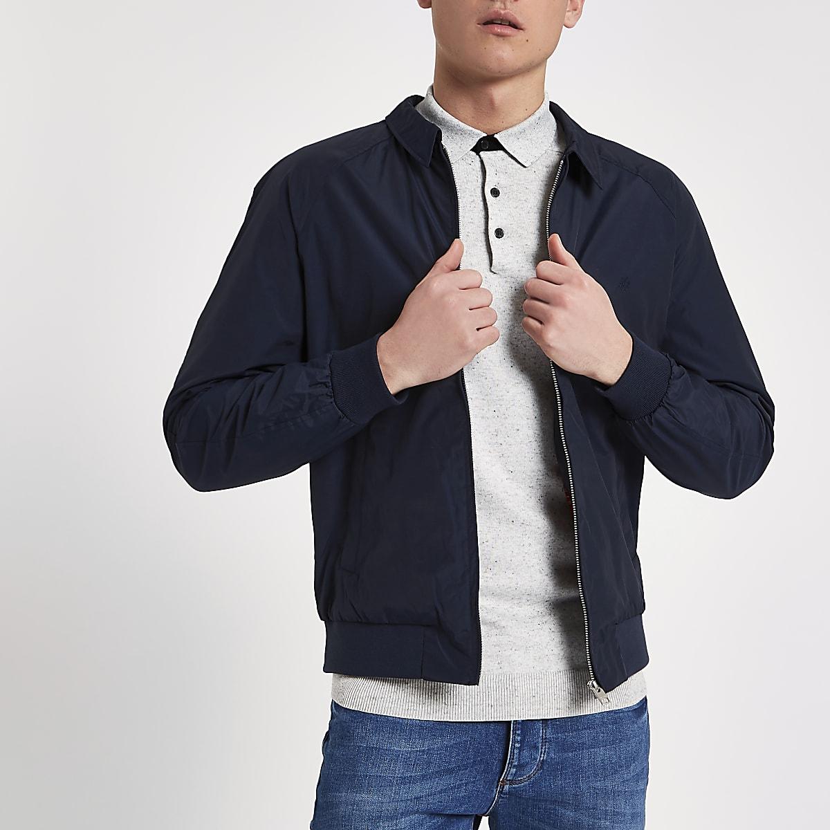 Jack & Jones navy harrington jacket