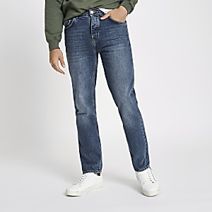 Mid blue Dean standard jeans