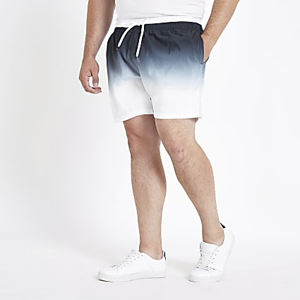Big and Tall black dip dye swim shorts