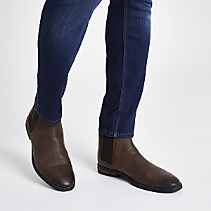 e557094ecdeb Brown leather chelsea boot