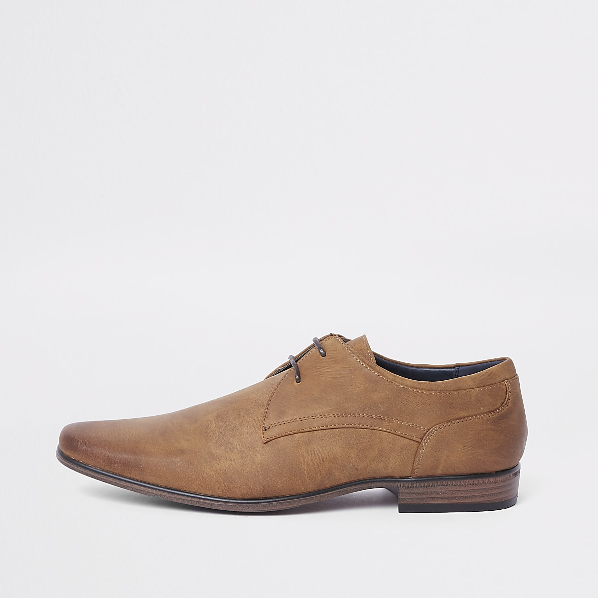 Tan lace-up formal shoe