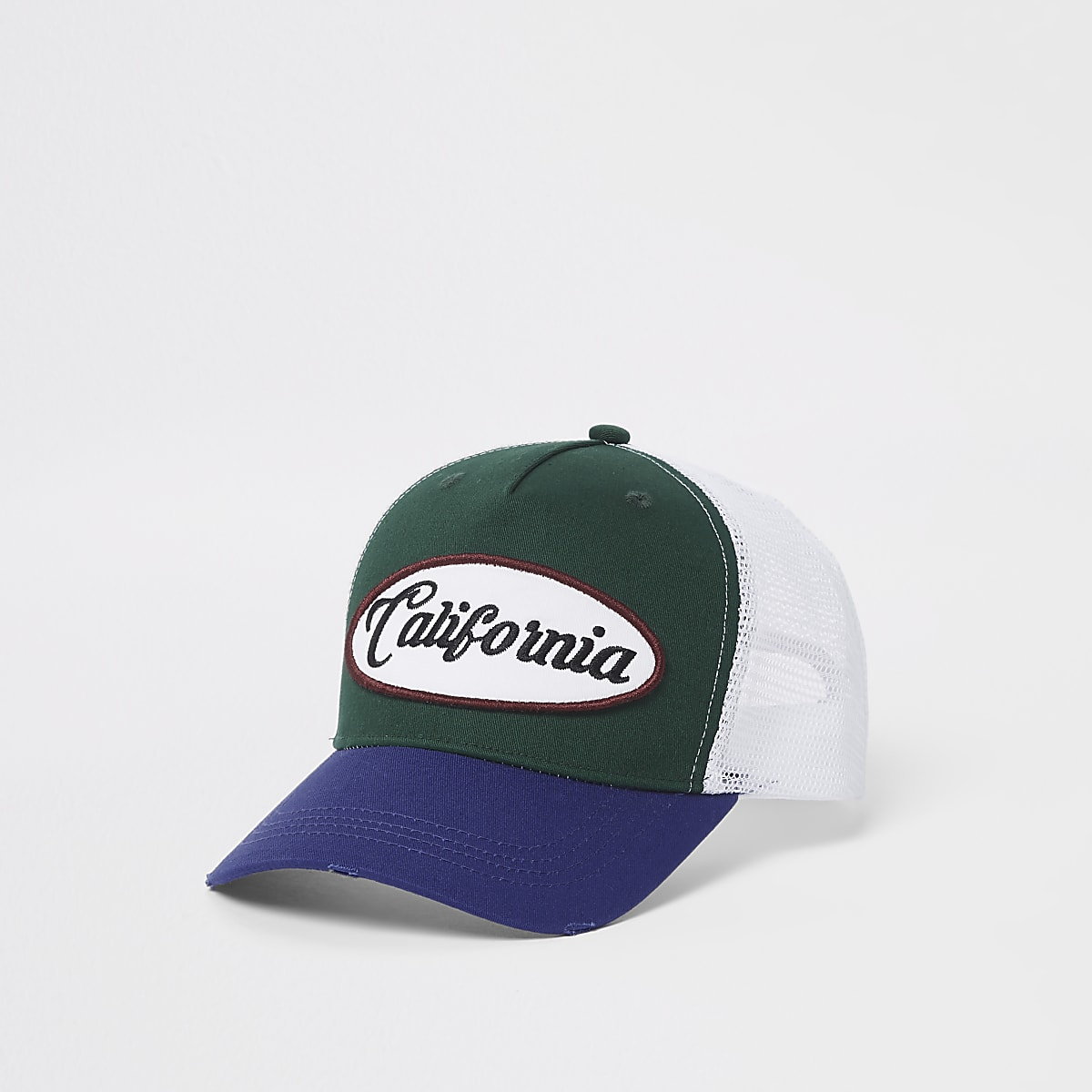 Green California mesh baseball cap