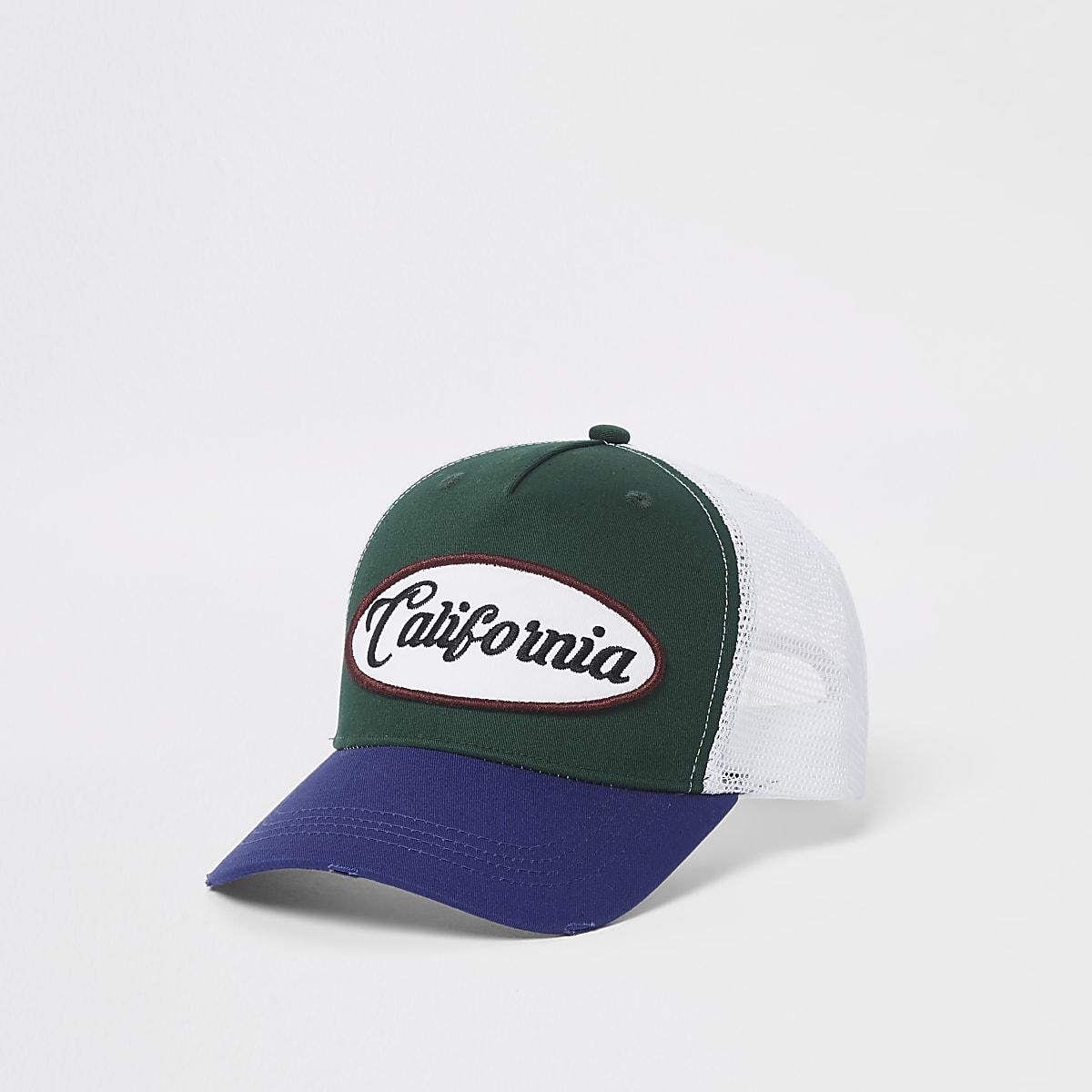 Green California mesh baseball cap