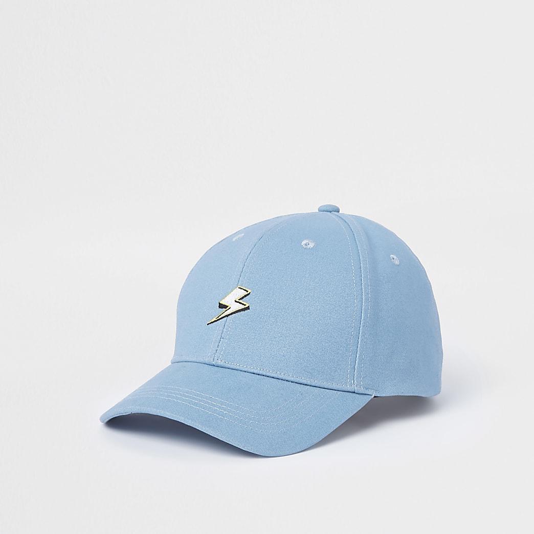 Casquette de baseball bleue à imprimé éclair