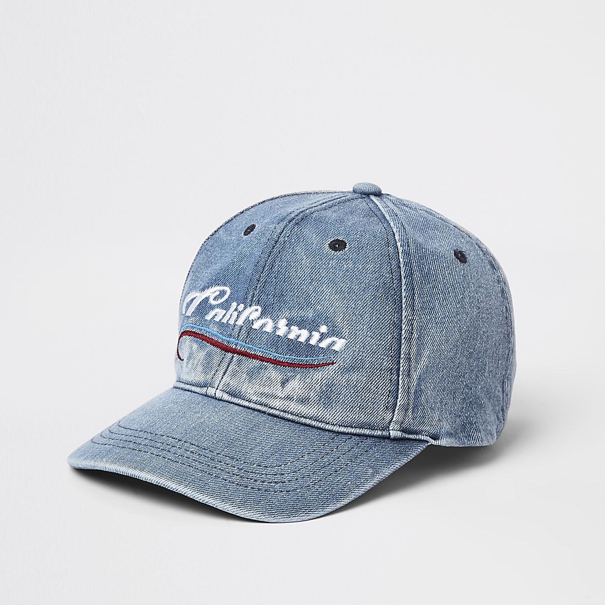 Blue 'California' denim baseball cap