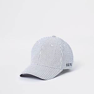 Blue striped baseball cap