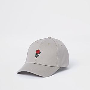 Beige rose baseball cap