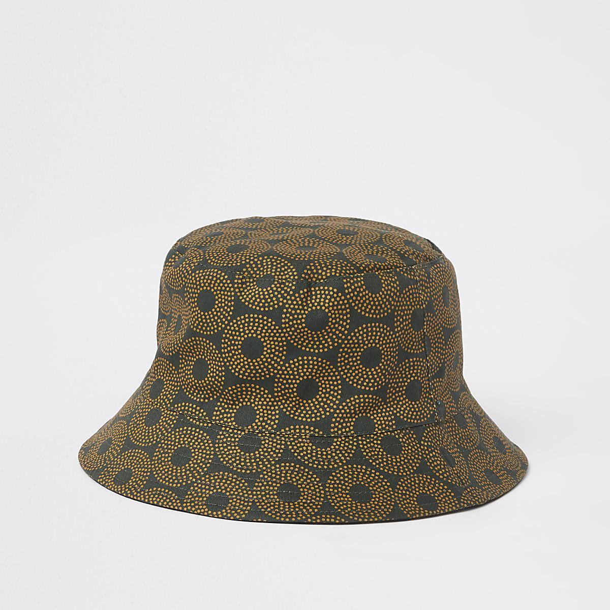 5edec458 Khaki green aztec print bucket hat - Hats / Caps - Accessories - men