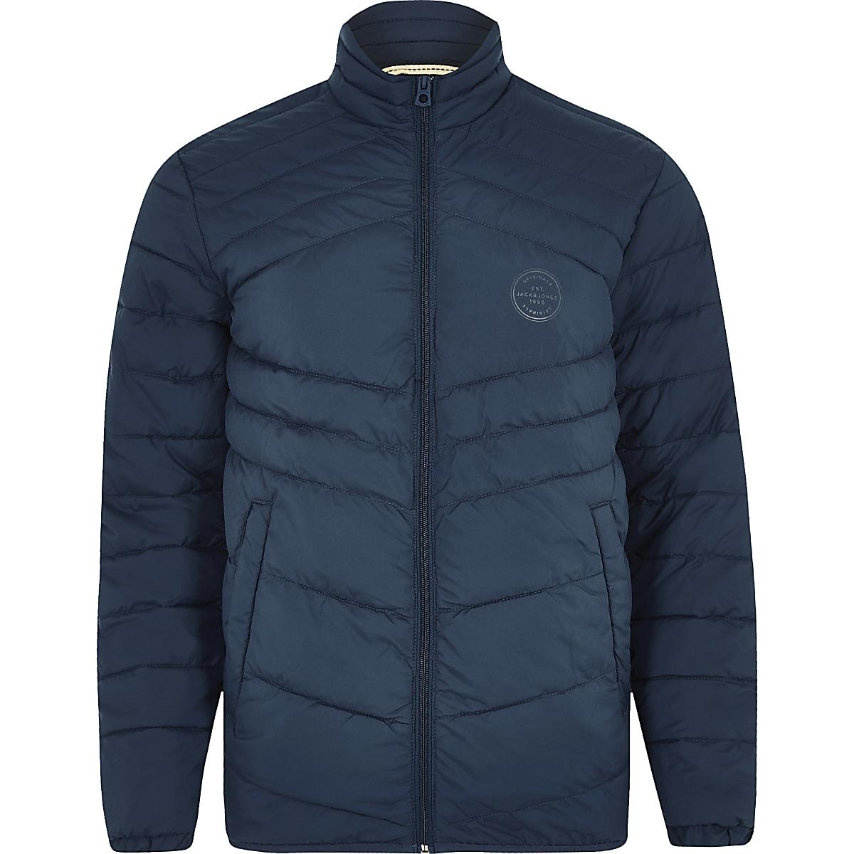 Jack & Jones Originals blue quilted jacket