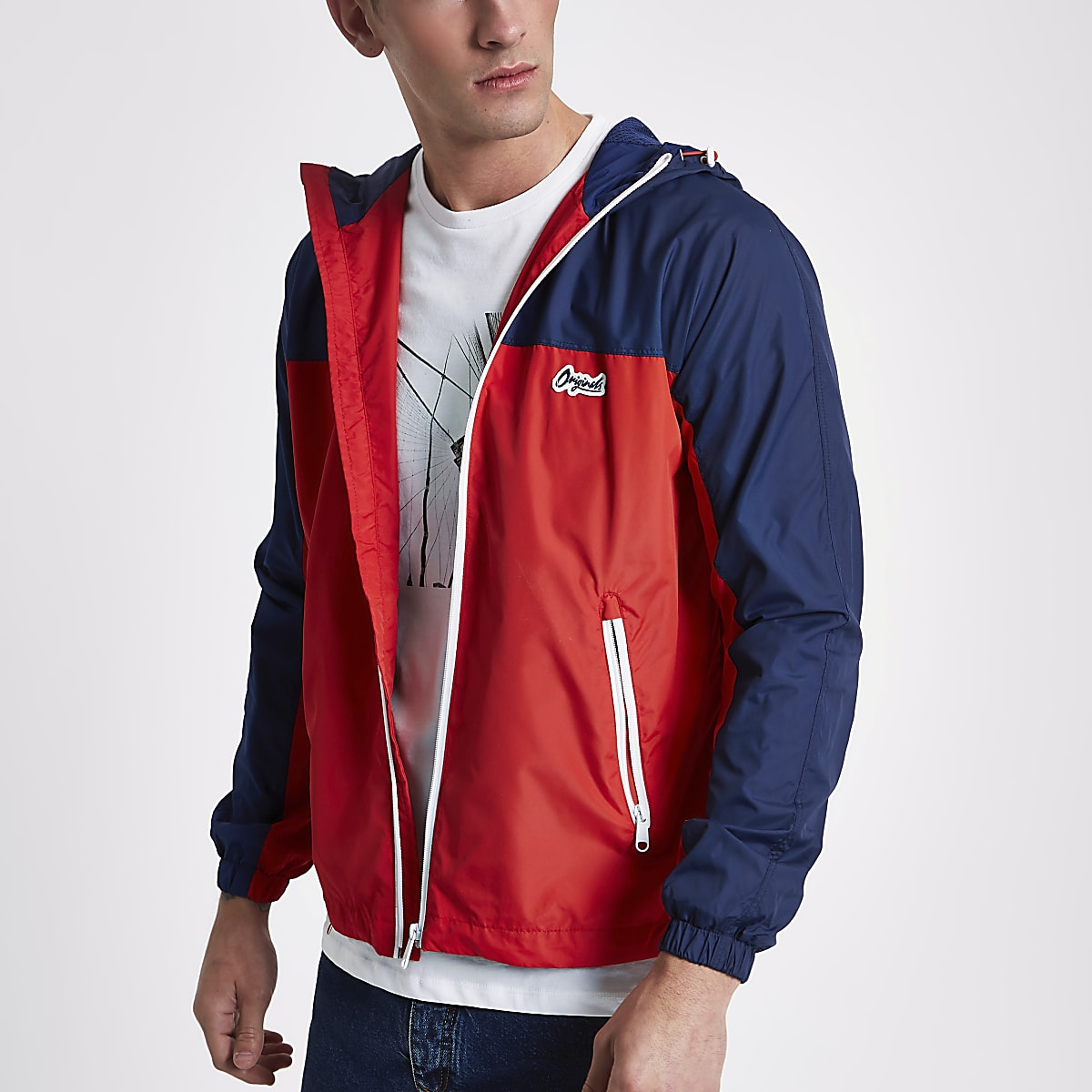 Jack & Jones red Originals lightweight jacket