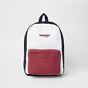 Wrangler navy color block backpack
