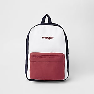 Wrangler – Sac à dos colour block bleu marine