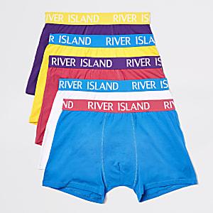 Lot de boxers longs à logo RI bleu vif