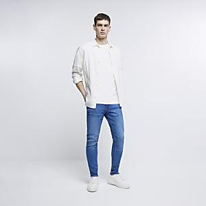 Mid blue Eddy skinny jeans