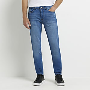 Middenblauwe Eddy skinny jeans