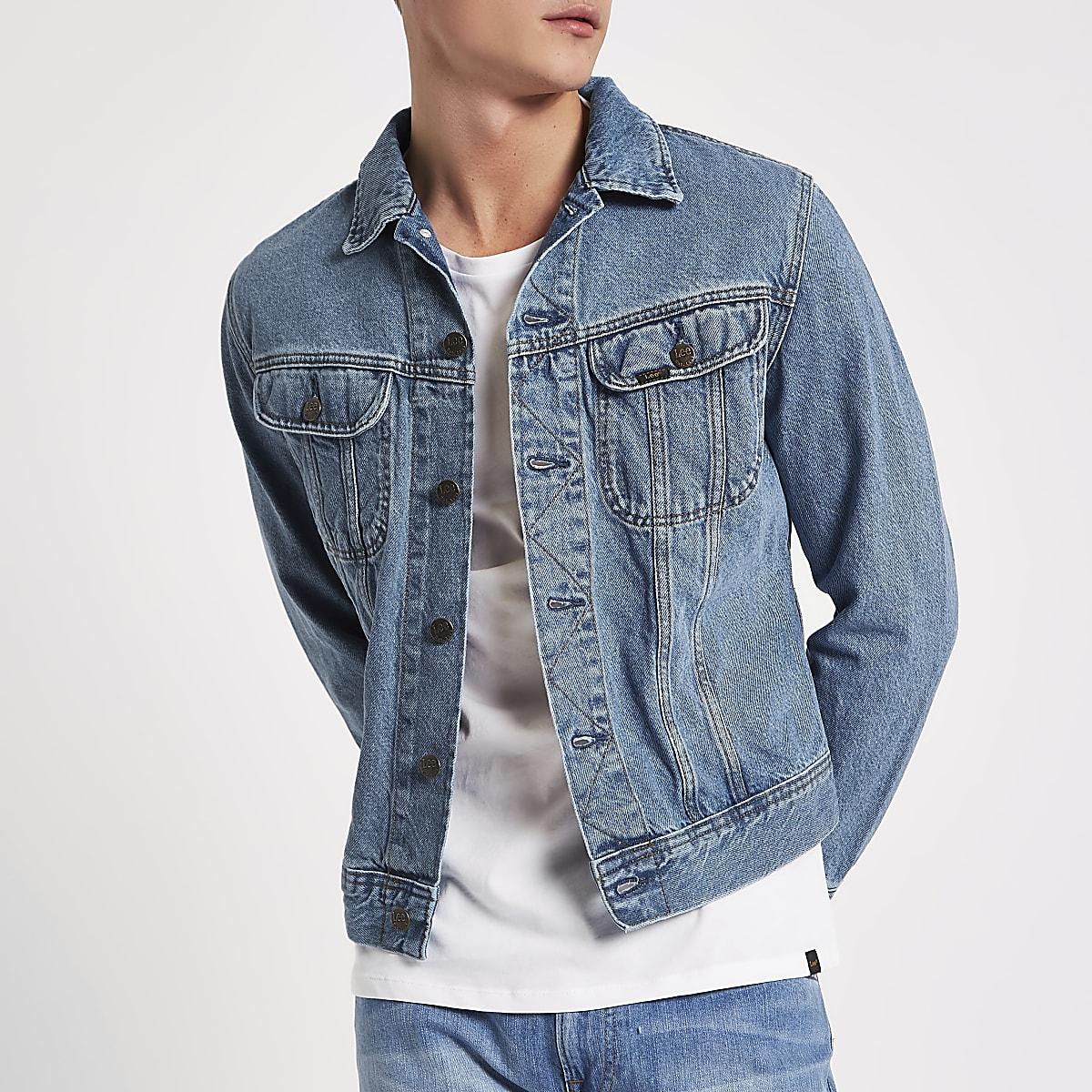 Lee light blue slim fit denim jacket
