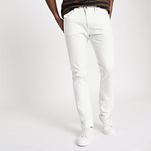 Lee white slim fit tapered Luke jeans