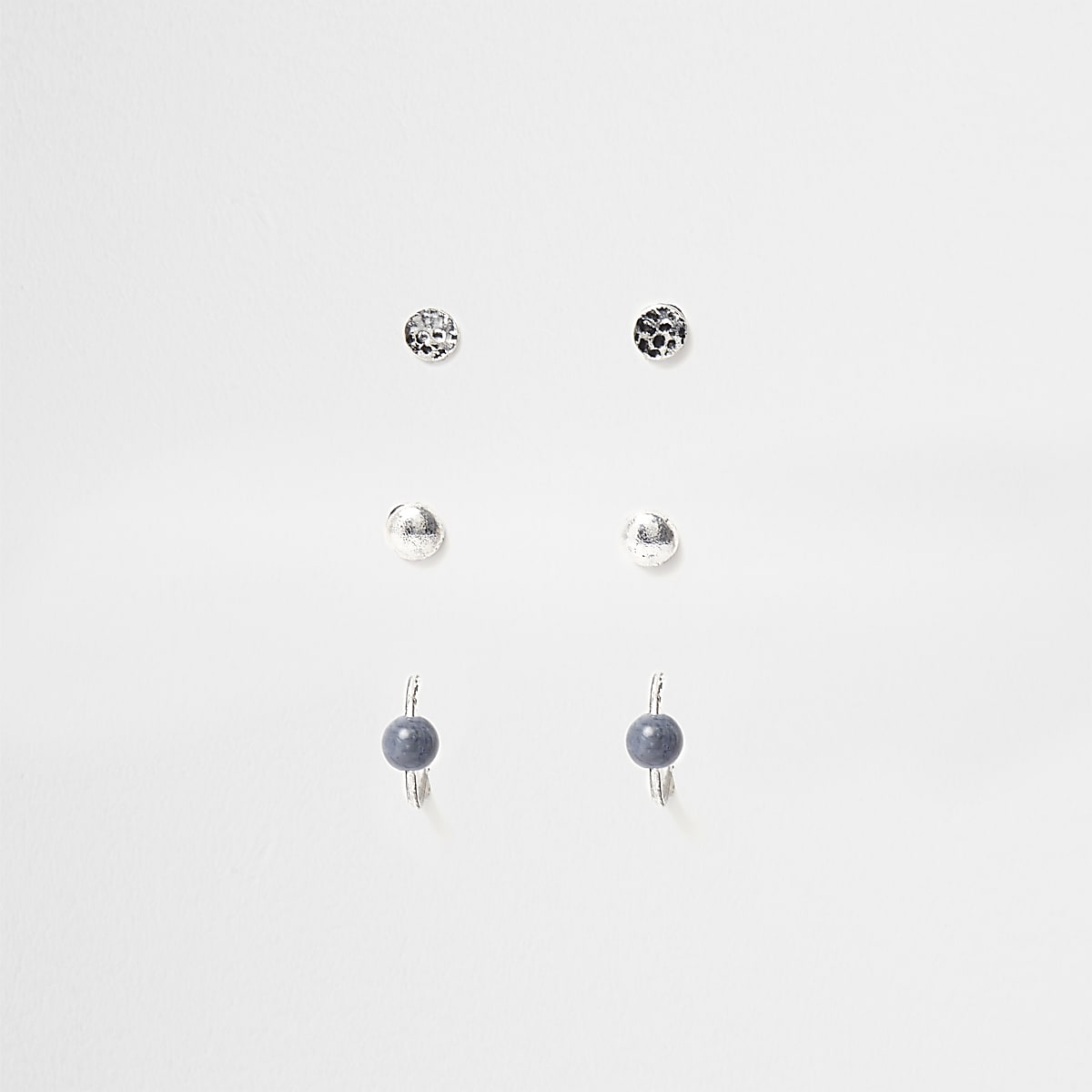 Silver tone mixed earrings pack