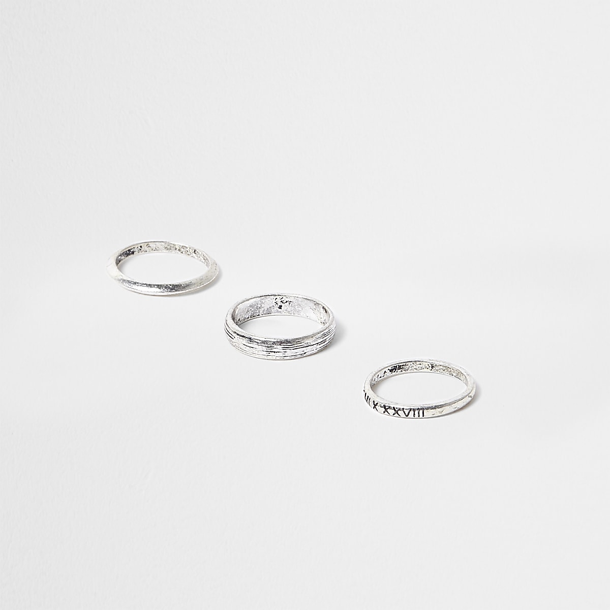 Silver tone ring 3 pack
