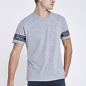 Franklin & Marshall grey crew neck T-shirt